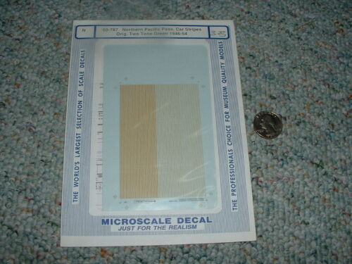 Microscale decals N 60787 Northern Pacific passenger stripes two tone gr. D55