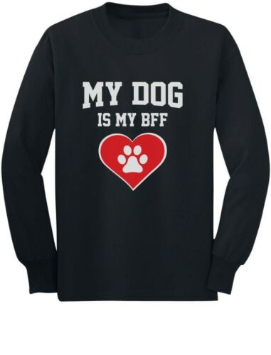 Gift for Dog Lovers Youth Kids Long Sleeve T-Shirt Animal My Dog Is My BFF