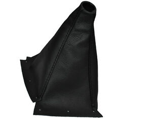 Ouvert D'Esprit Black Double Stitch Fits Nissan Skyline R33 Gear Gaiter Shift Boot Leather-afficher Le Titre D'origine