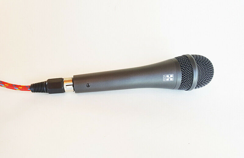 Cable de micrófono hiz Rojo Rojo Rojo trenzado de alta impedancia de micrófono 15', 1 4  Macho a Hembra XLR 069ac9