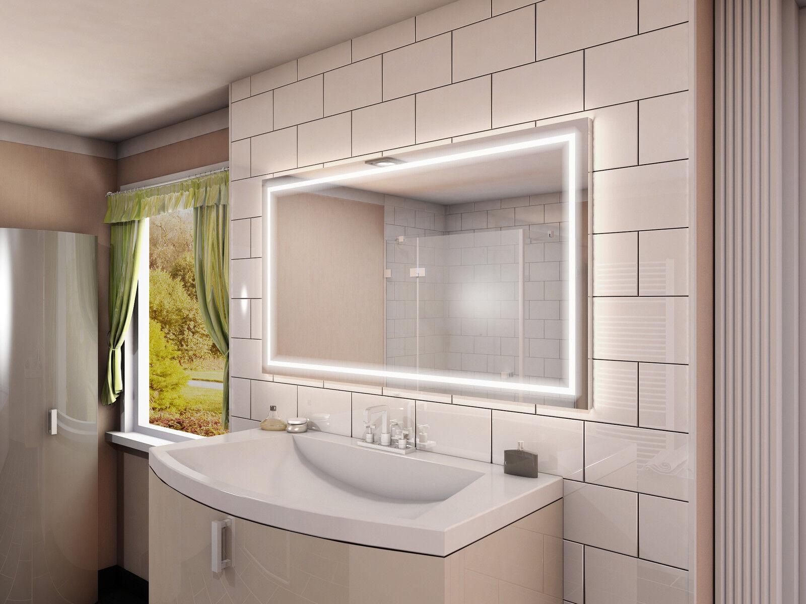 Badspiegel Badezimmerspiegel Bad Spiegel LED beleuchtet rundherum ■■■ M215L4