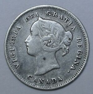 Image Is Loading Old Canadian Coin 1899 5 Cents 925 Silver