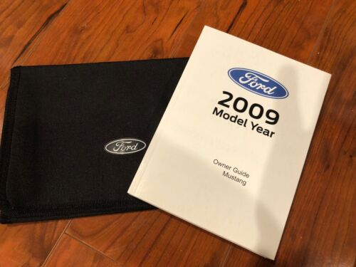 NOS 2009 FORD MUSTANG AND GT OR SHELBY NEW FACTORY OWNERS MANUAL PACKET W POUCH