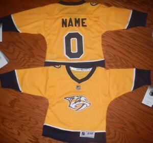 3b170ec66 Image is loading Nashville-PredatorsToddler-NHL-Hockey-Jersey-add-any-name-
