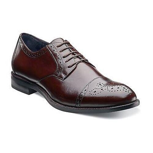 solo per te Mens Stacy Adams Marrone Granville Leather Leather Leather Business Cap Toe Lace Oxford Dress Shoe  ordina adesso