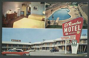 Burbank-CA-c-1950s-Postcard-EL-RANCHO-MOTEL-on-San-Fernando-Blvd