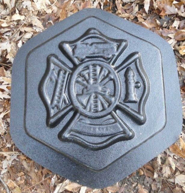 Fireman stepping stone mold concrete plaster reusable mold