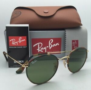 Ray-Ban Sunglasses ROUND METAL RB 3447-J-M 168 4E Green-Brown ... 72a78594c0