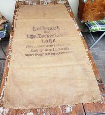 Alter Leinensack Getreide / Mehlsack 160x76 cm Shabby Vintage Möbelbau bedruckt