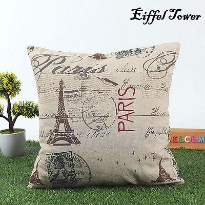New Classic Home Decor European Cotton Linen Cushion Cover Pillow Case 45x45cm