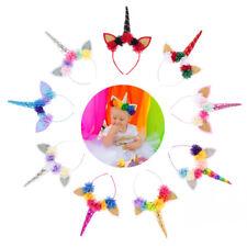 Mehrfarbig Einhorn Glitzer Schleife Haarclip Mädchen Geburtstagsparty iGRYp