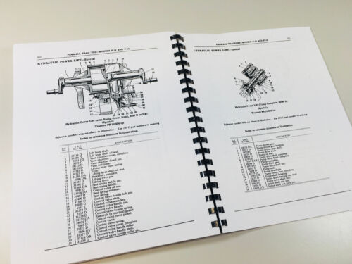 McCORMICK DEERING F12 F14 TRACTOR PARTS MANUAL CATALOG INTERNATIONAL HARVESTER