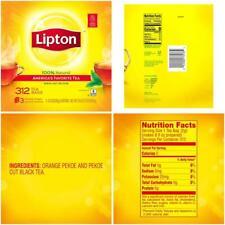 Lipton 100 Natural Black 312 Tea Bags
