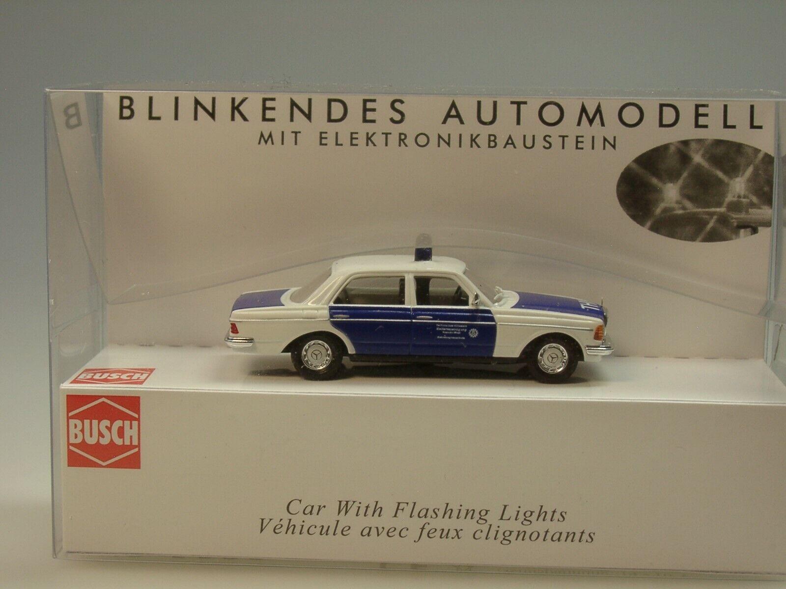 Busch Mercedes W 123 Limousine, Limousine, Limousine, THW, mit Blink-Elektronik - 5592 - 1 87 09036c
