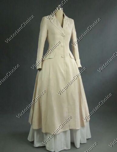 Edwardian Style Dresses    Victorian Edwardian Downton Abbey Frock Coat Steampunk Women Clothing C002 $175.00 AT vintagedancer.com