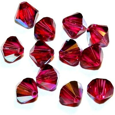 Last one!!! 12pc Swarovski Crystal 6mm Antique Pink Bicone Bead; Clearance!