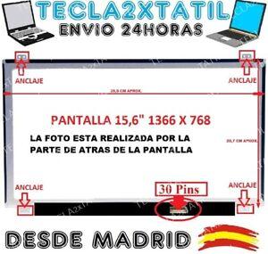 TECLA2XTATIL TC2X Pantalla Compatible DE Y para PORTATIL LP156WHB 15,6 HD LCD LED 30 Pin EDP 1366X768 Ver Foto TP C2