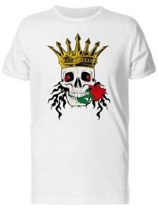 Rose-King-Skull-Men-039-s-Tee-Image-by-Shutterstock