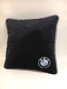 Black-Velour-BMW-17-Cushion-Cover-With-Fibre-Filled-Inner-Brand-New