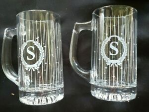 2-VINTAGE-AVON-THE-GIFT-COLLECTION-PERSONALLY-YOURS-BEVERAGE-MUGS-LETTER-S