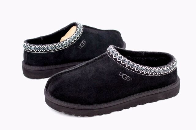 f5010c5ae21 UGG Australia Tasman Mens Size 10 Black Suede Scuffs Slippers Shoes ...