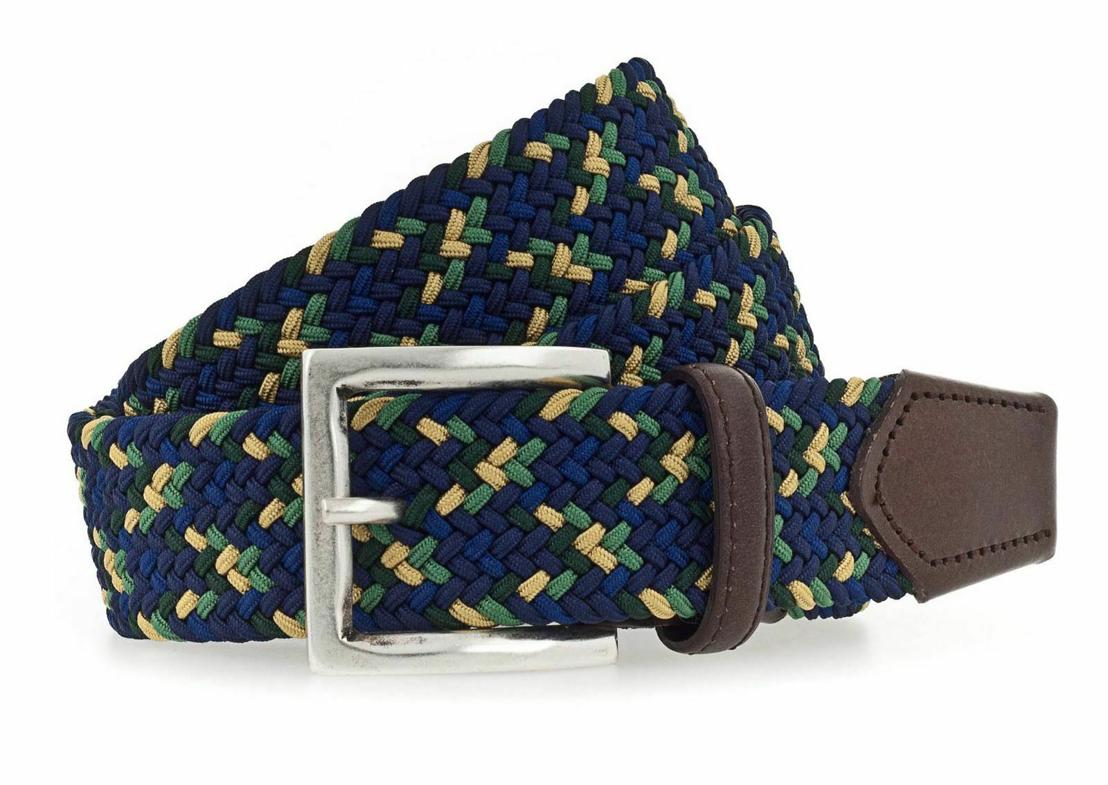 b.belt Luca Stretch Belt W95 Gürtel Accessoire Navy - Light Green Blau Grün Neu