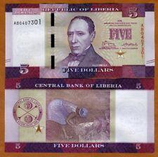Liberia, 5 dollars 2016 (2017), P-New, UNC > Redesigned
