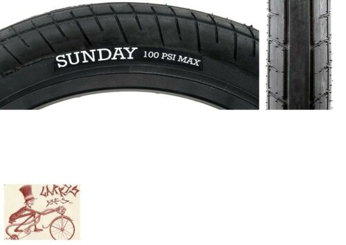 """SUNDAY BIKES SEELEY SWEEPER 20/"""" X  2.4/"""" WIREBEAD BLACK BICYCLE TIRE"""