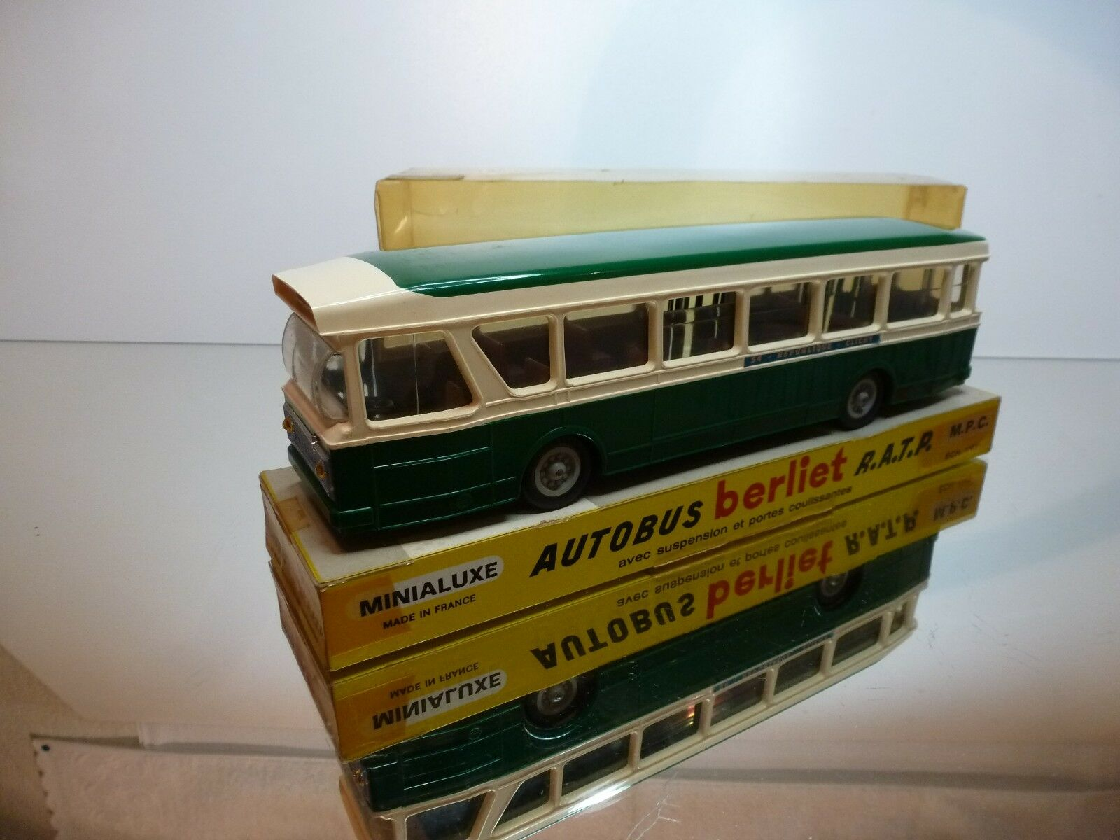 MINIALUXE AUTOBUS PARISIEN BERLIET R.A.T.P. - verde 1 43 RARE - VERY GOOD IN BOX