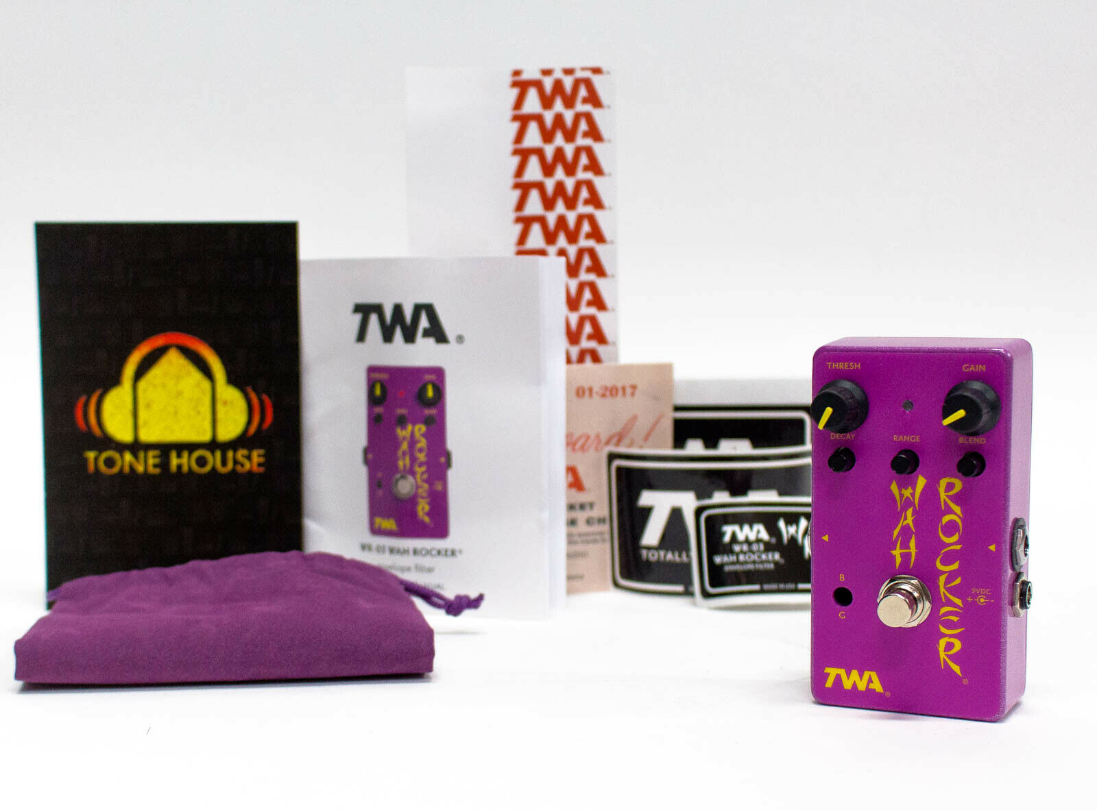 Totally Wycked Audio TWA WR-3 Wah Rocker Guitar Effect Pedal - New