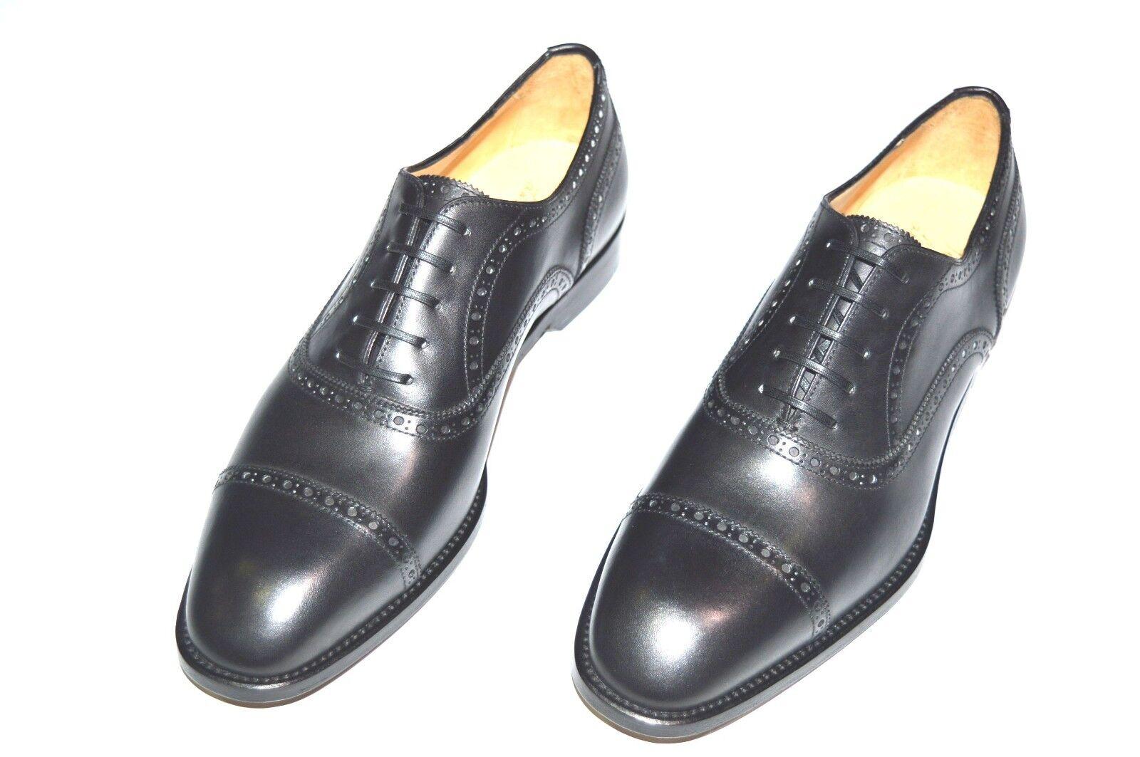 New PAOLO SCAFORA Dress Leather Luxury Luxury Luxury shoes Size Eu 40 Uk 6 Us 7 Cod 8 a1fbd6