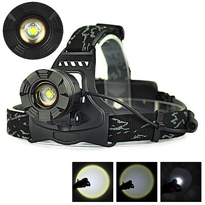 9000LM XML XM-L T6 LED Zoomable HeadLamp Bicycle Light Bike Head Torch Headlight