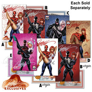 AMAZING-SPIDER-MAN-2A-2B-2C-2D-2E-SIGNED-BY-J-SCOTT-CAMPBELL-Sold-Separately