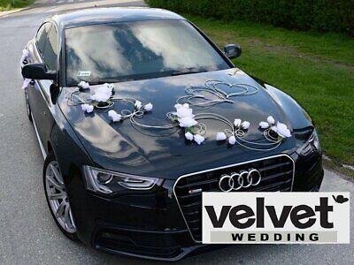 Wedding Car Decoration Kit Set White Hearts Flowers And Free