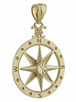 10K Gold Graduation Compass Pendant with Personalized Birthstones by JEWLR