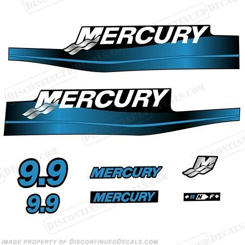 Mercury 9.9hp Outboard Decal Kit All Blau or ROT 9.9 1999-2006 All Kit Models Available 10744d