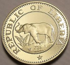 Rare Proof Liberia 1973 5 Cents~Elephant Coin~Only 11,000 Minted~Free Shipping