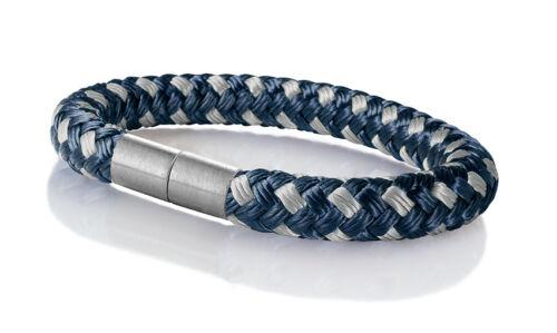 "Seemannsgarn /_ Maritimes Segeltau Armband /""Hiddensee/"" navy-blau-grau 8mm"