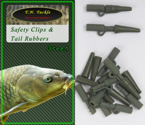 Tail Rubber Set Blei-Clips Bolt Rig Boilie-Montage Carp 20+20 40pc Safety Clip