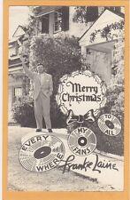 Real Photo Postcard RPPC - Merry Christmas Singer Frankie Laine
