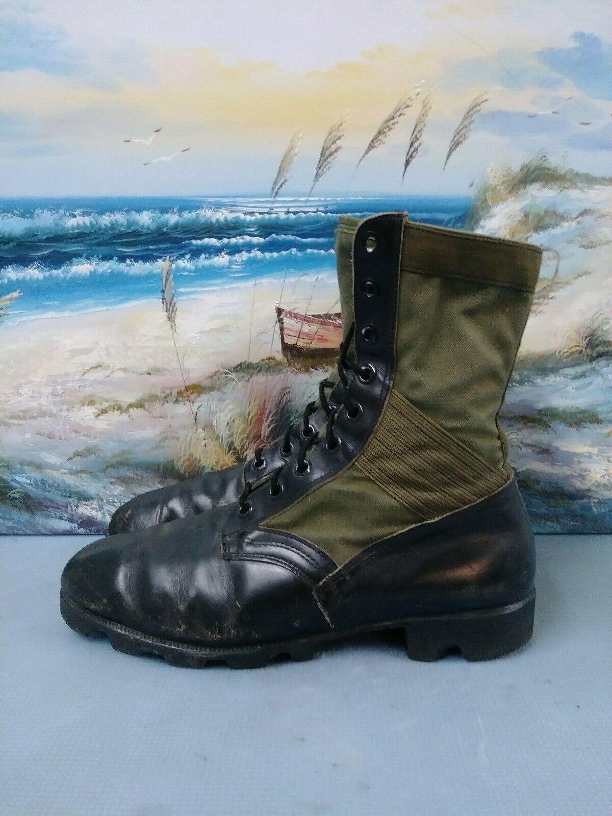 Ro search Negro verde Mitad de Pantorrilla Cuero Con Cordones botas De Combate Militar para Hombre 11 W