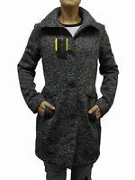 Weatherproof Women's Button Up Sweater Jacket Heather Grey
