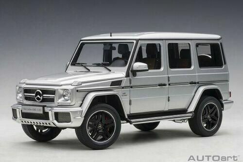 1 18 Autoart 76323 Mercedes-Amg G 63 2017 (Plata) Modelo   Full Aberturas