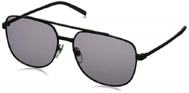 $148 JACK SPADE Harvey 58mm Aviator Sunglasses Matte Black/Black Ar