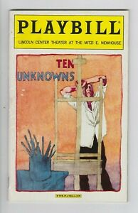 March-2001-PLAYBILL-Ten-Unknowns-LINCOLN-CENTER-Donald-Sutherland