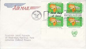 United-Nations-NY103-Enveloppe-1er-jour-1961-Economic-commission-Air-Mail-11c
