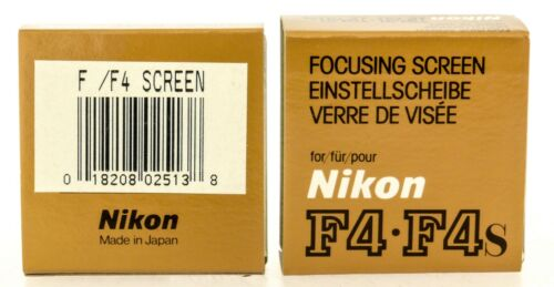 Genuine Nikon Focusing Screen F per F4 F4S F4E Nuovo