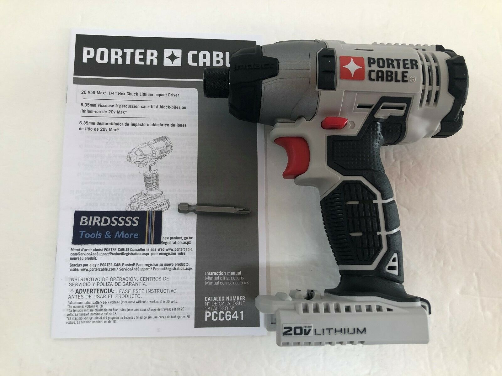 Porter Cable Pcc641 20v Max Lithium Ion Impact Driver For Sale Online Ebay