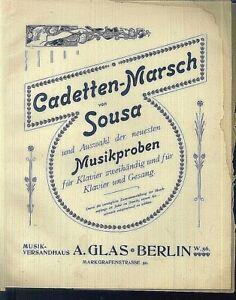 J-P-Sousa-CADETTEN-MARSCH-uebergrosse-alte-Noten