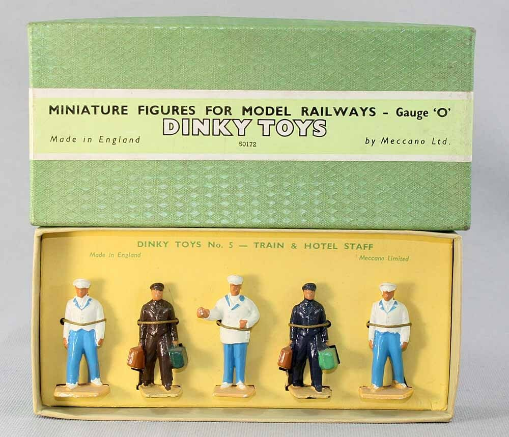 DINKY Spielzeug 1 / 43 - Figuren für Zug Feld n°: 4 / Spielzeug antik